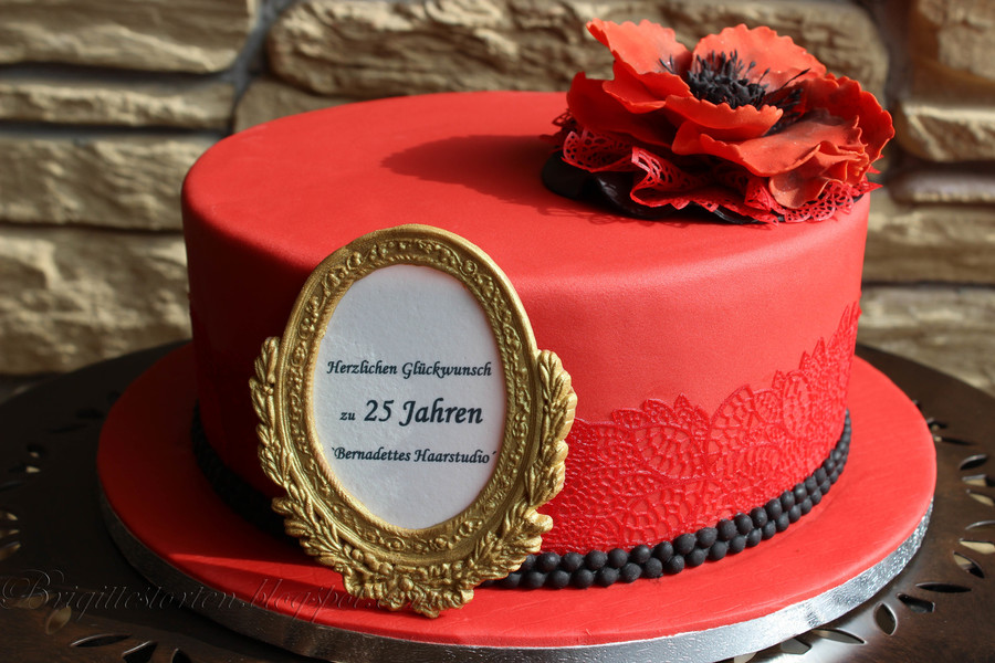 Birthdaycake Red Black And Gold Frame Cakecentral Com