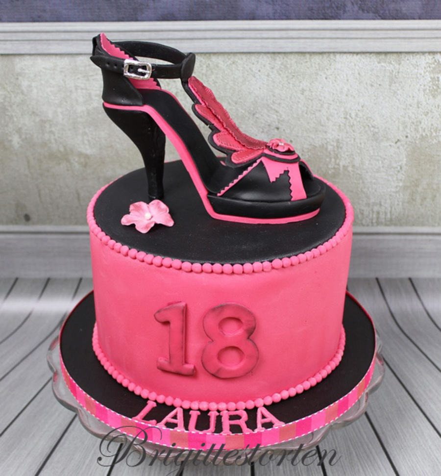 Surprising High Heel Shoe 18 Birthday Cakecentral Com Birthday Cards Printable Inklcafe Filternl