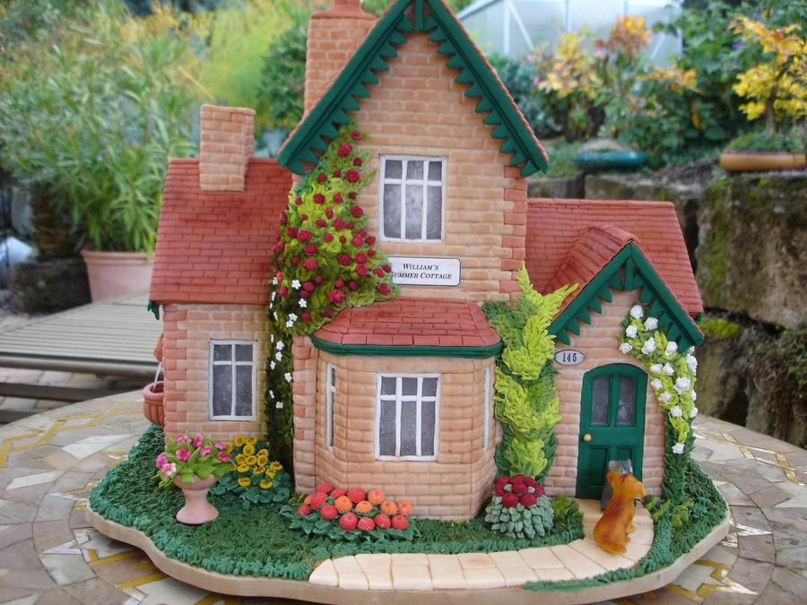 Summer Cottage Gingerbread House Cakecentral Com