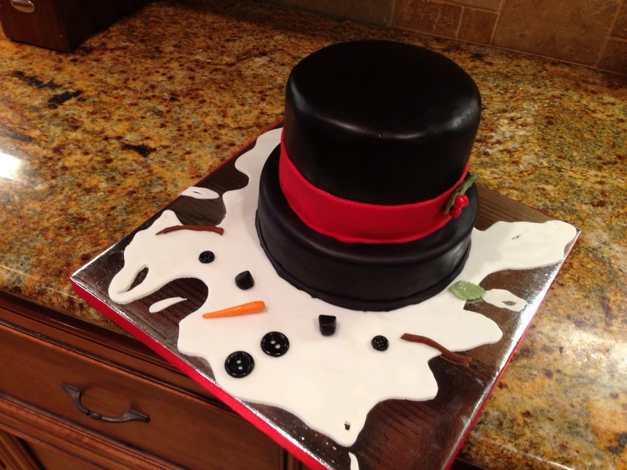 Melted Snowman! on Cake Central