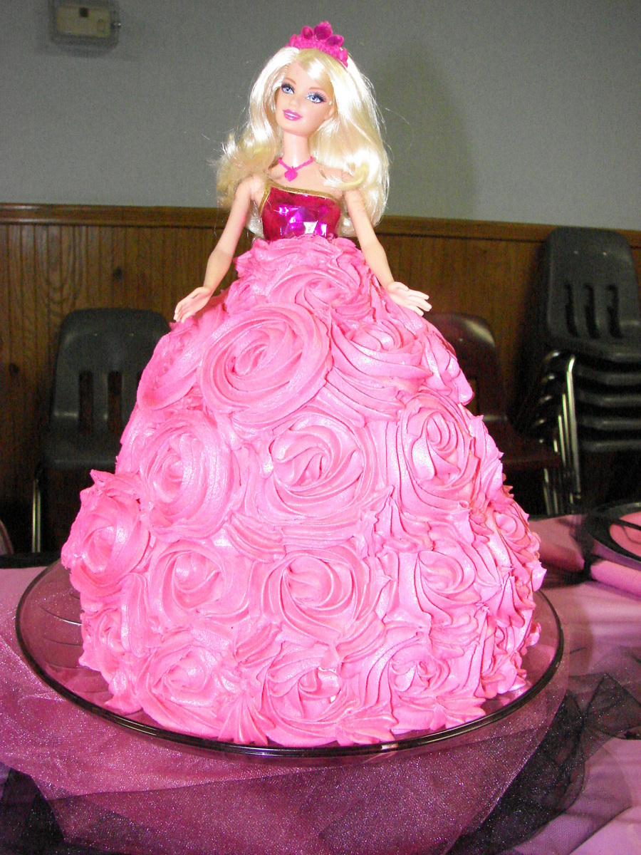Doll Cake Images With Name : Barbie Doll Cake - CakeCentral.com