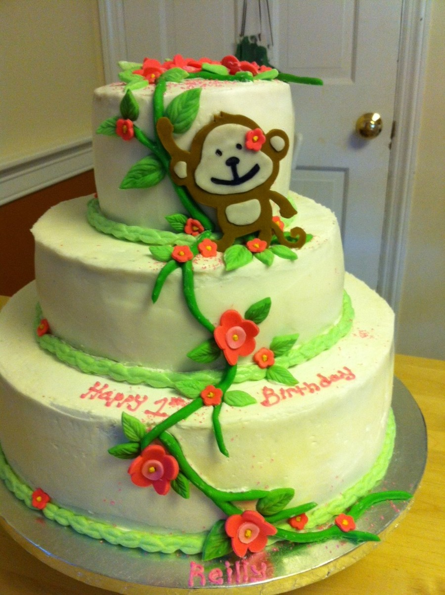Fantastic Monkey Birthday Cake Cakecentral Com Personalised Birthday Cards Xaembasilily Jamesorg