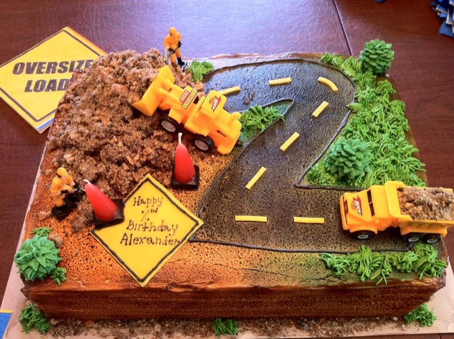 Construction Truck Birthday Cake CakeCentralcom