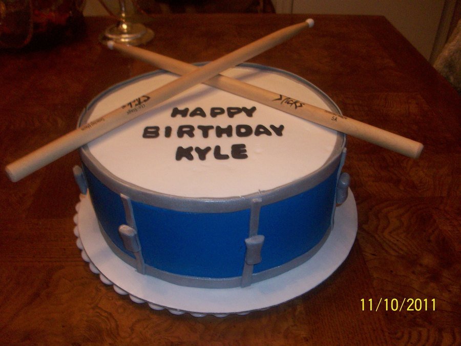 Drum Cake  Birthday