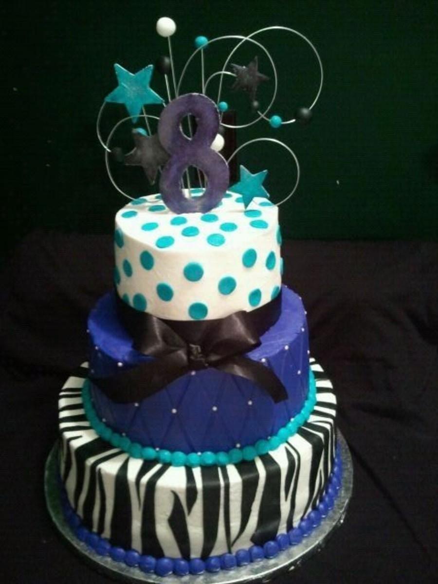 Sensational Purple And Teal Zebra Cake Cakecentral Com Funny Birthday Cards Online Sheoxdamsfinfo