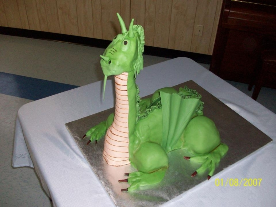 Dragon Grooms Cake on Cake Central