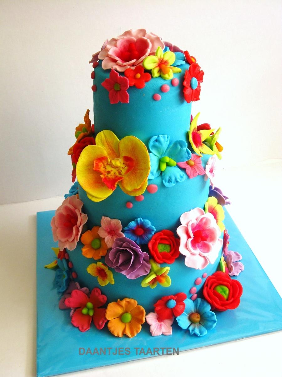 Bright Colored Cake Pops