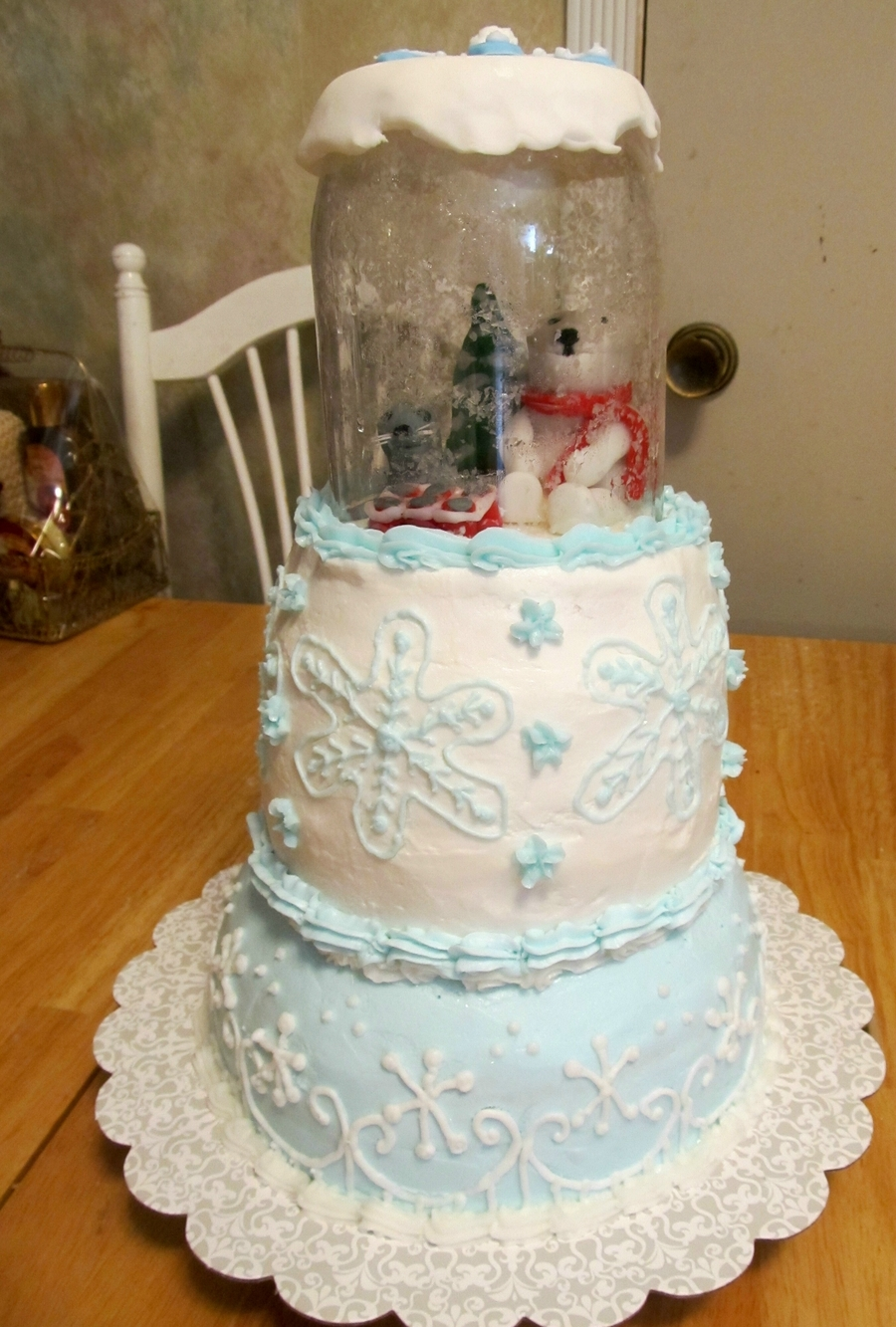 Polar Bear Snow Globe on Cake Central