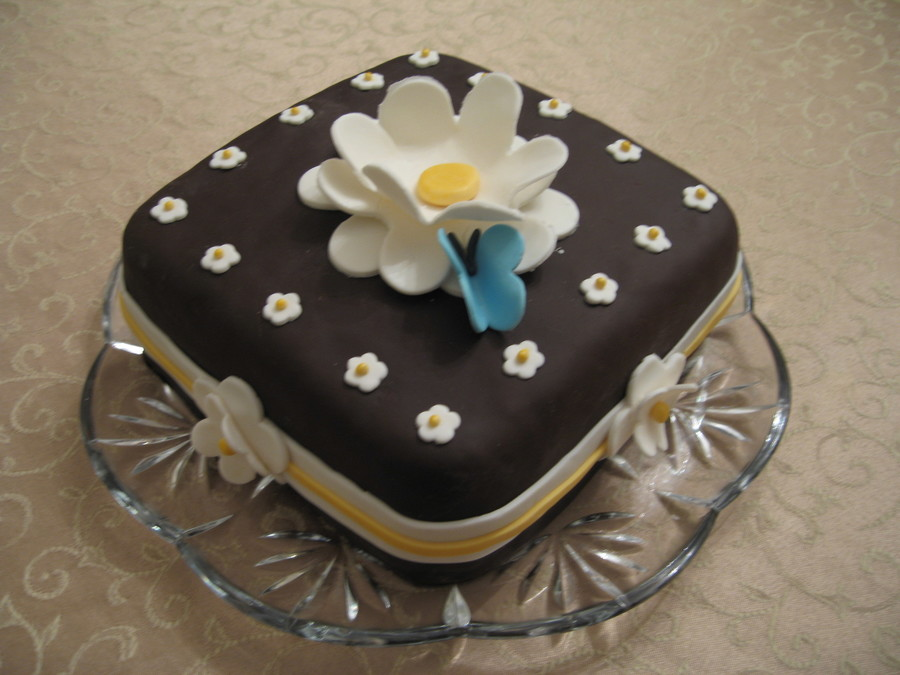 Flower And Butterfly Cake  on Cake Central