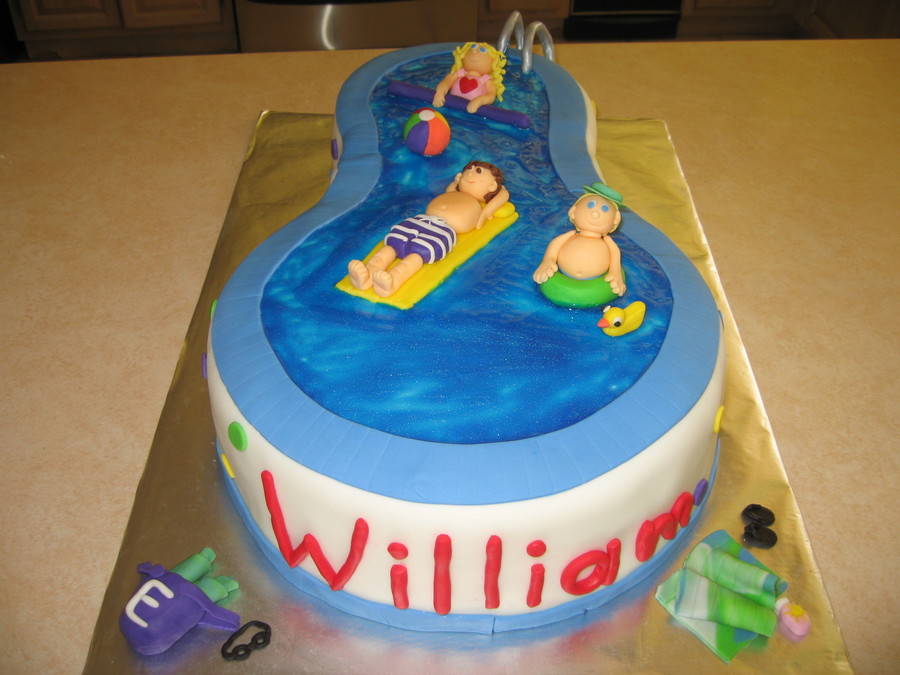 Pool Party Cake on Cake Central