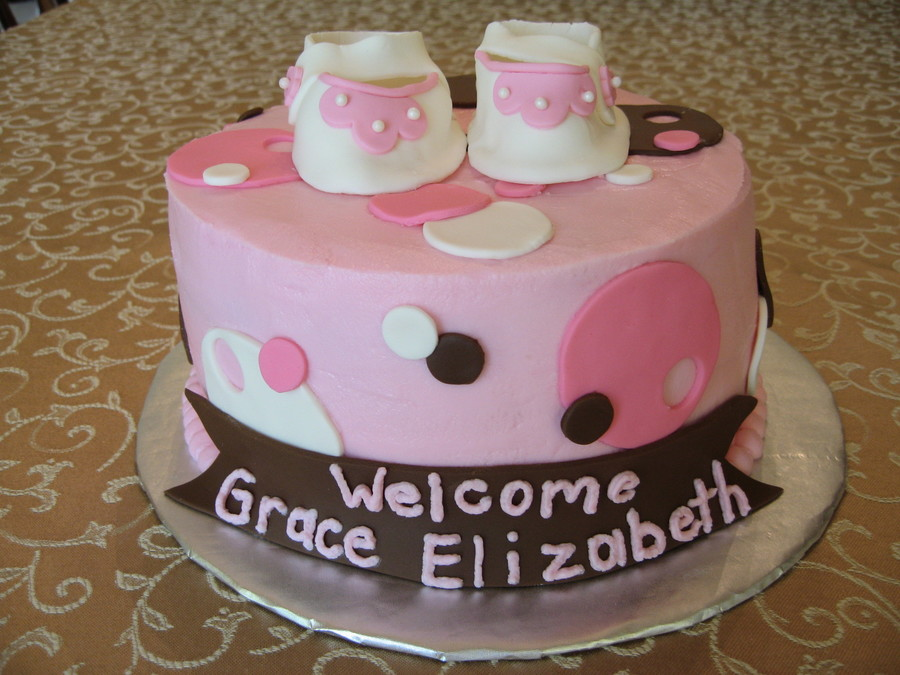 Baby Girl Shower Cake on Cake Central