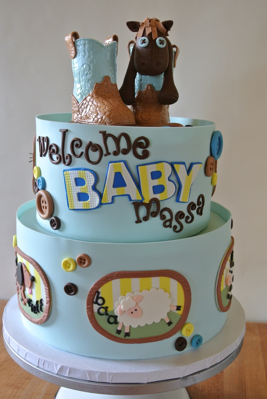 Country Farm Animal Baby Shower Cakecentral Com