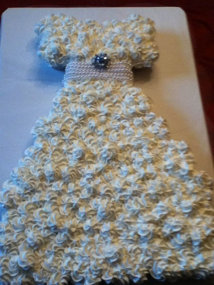 Pull Apart Cupcake Wedding Dress Wasc Cake With