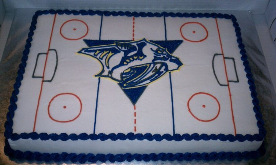 Nashville Predators Hockey Cake on Cake Central