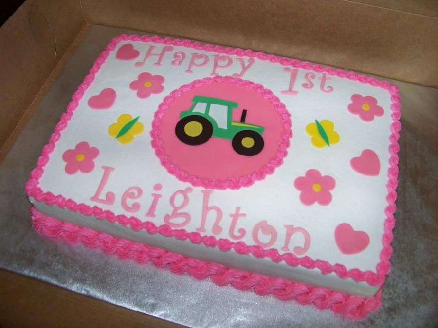John Deere First Birthday Cake CakeCentralcom