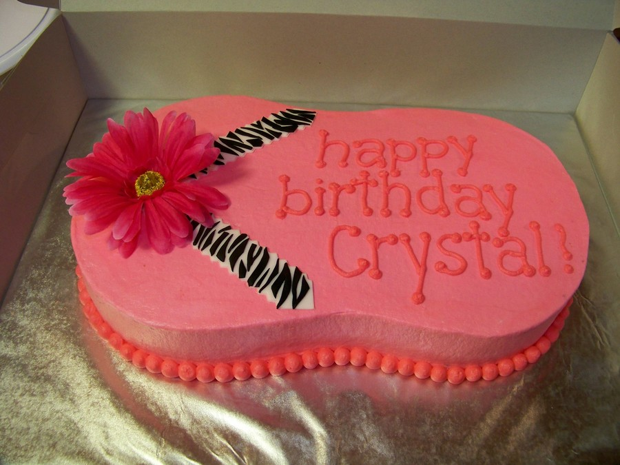 Pink And Zebra Flip-Flop Cake on Cake Central