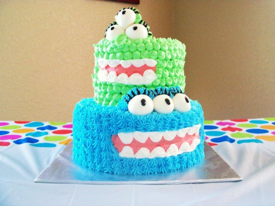 Fine Boys Monster First Birthday Cake Cakecentral Com Personalised Birthday Cards Arneslily Jamesorg