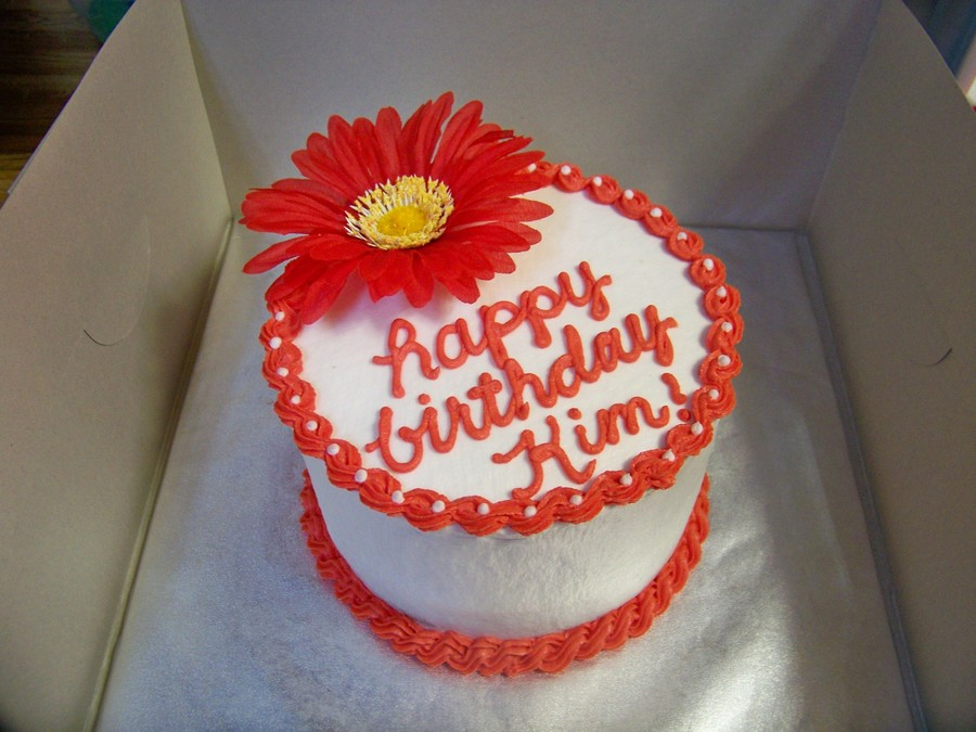 Red Gerbera Daisy Cake on Cake Central