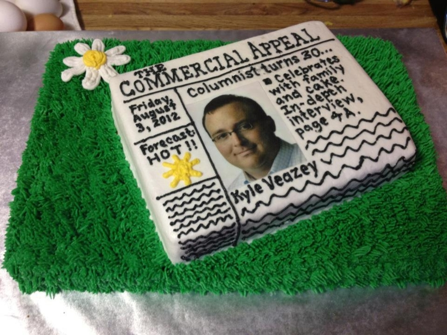Newspaper On Doormat Cake on Cake Central