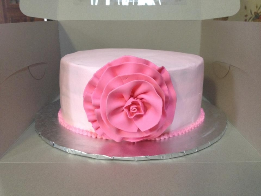 Gumpaste Ruffled Flower on Cake Central