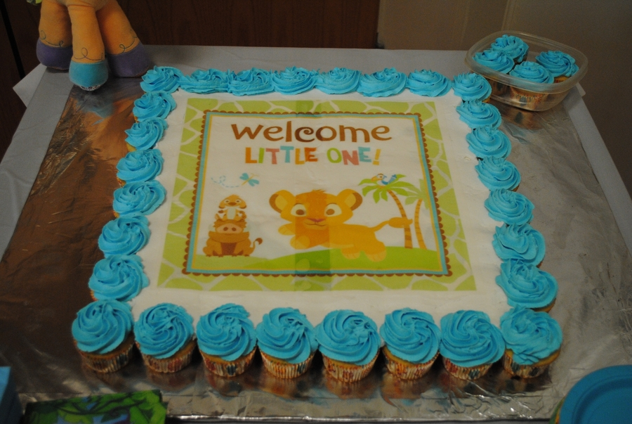 Lion King Baby Shower Cake For Girl
