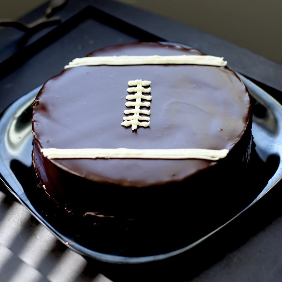 Flourless Chocolate Football Cake on Cake Central