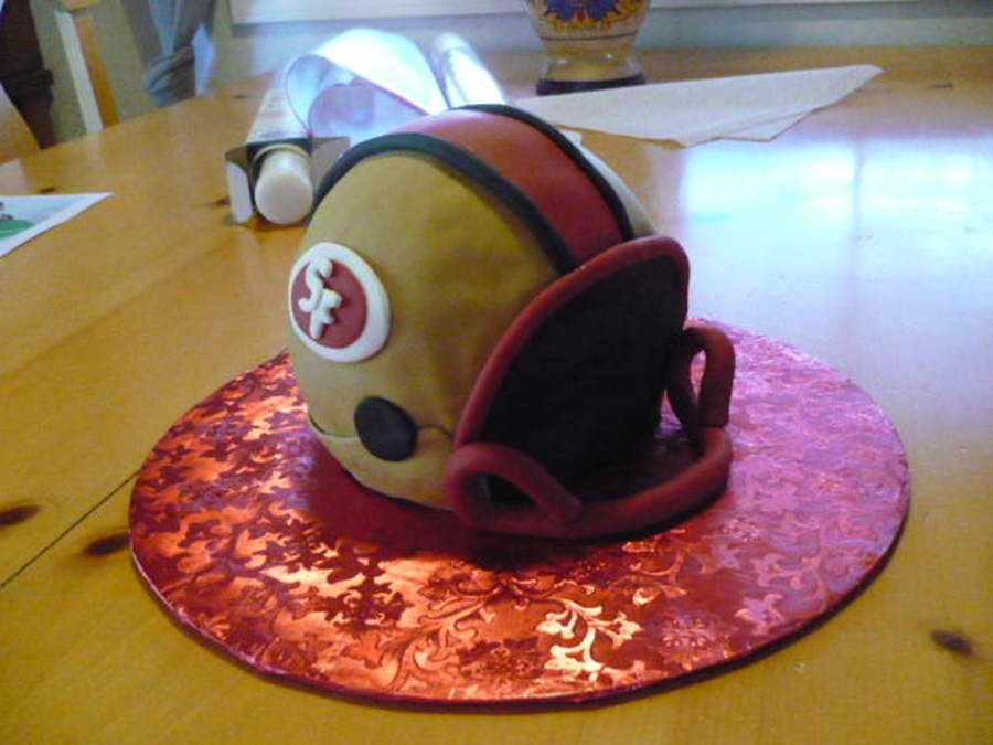 Super Bowl San Francisco 49Er Helmet on Cake Central