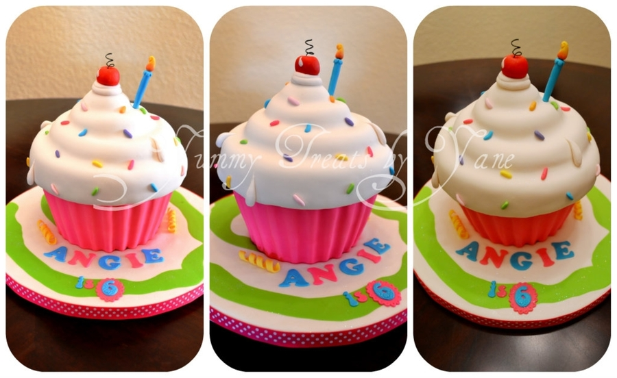 Giant Cupcake! on Cake Central