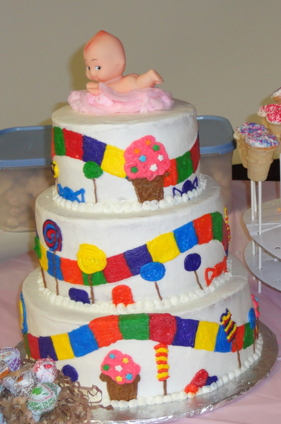 Amazing Candyland Theme Baby Shower Cake On Cake Central
