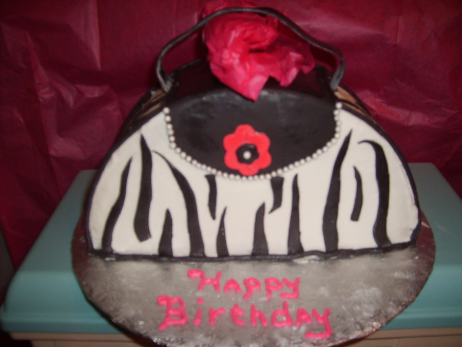 Zebra Print Purse on Cake Central