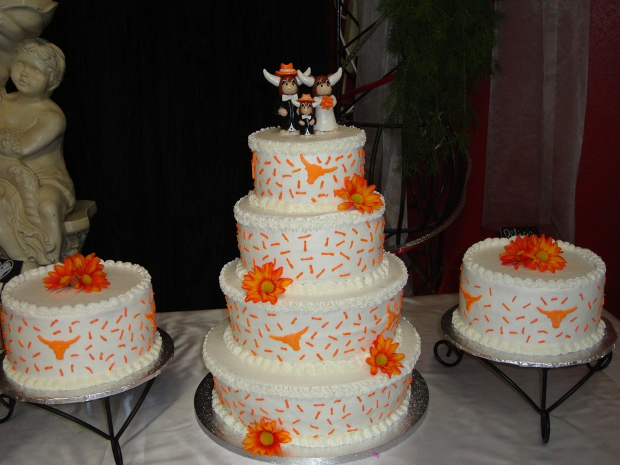 wedding cakes texas longhorn themed wedding cake cakecentral 25711
