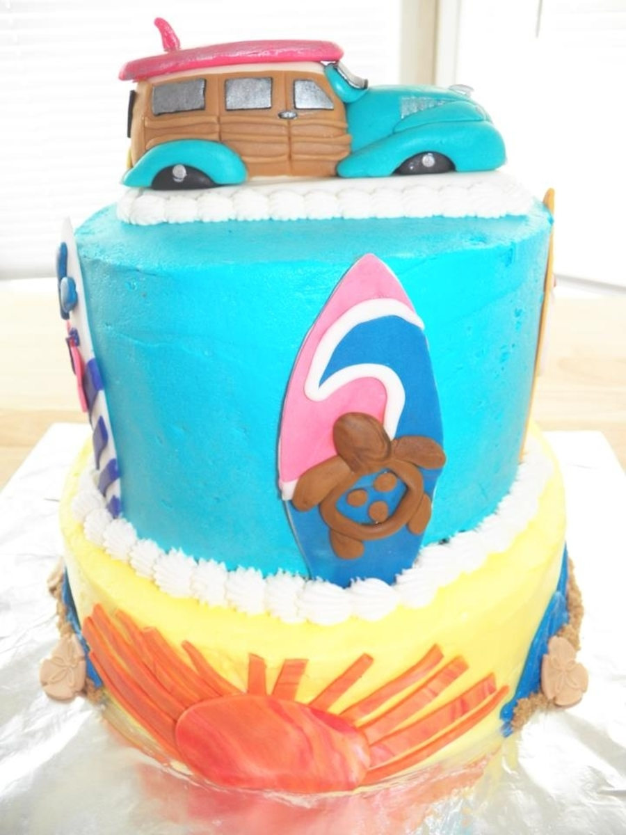 Surf's Up In The 60's on Cake Central