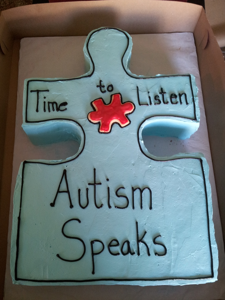 Autism Fundraiser on Cake Central