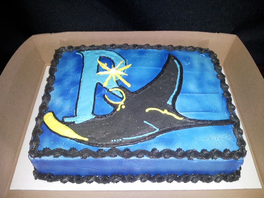 Rays Baseball Team! on Cake Central