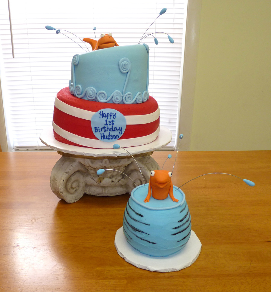 Dr Seuss 1st Birthday Cake Cakecentral