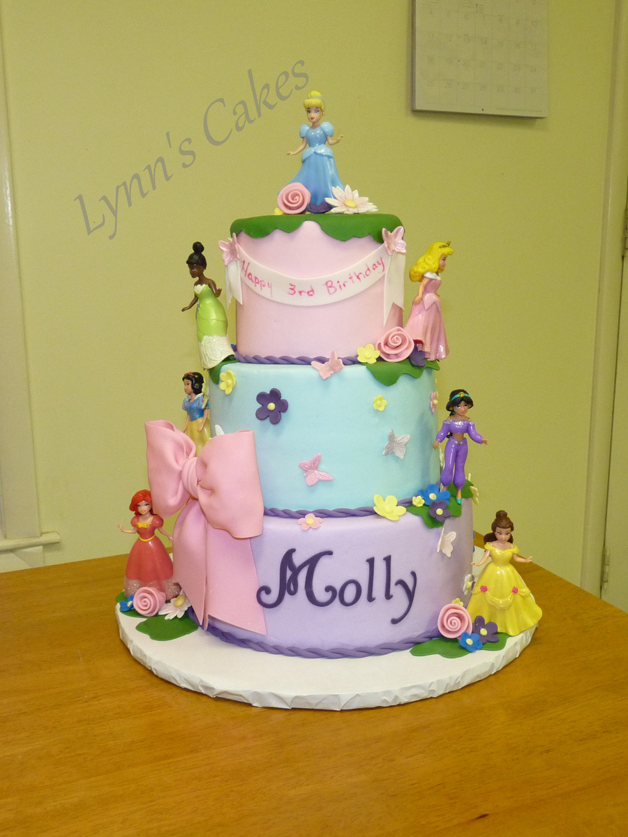 Disney Princess Birthday Cake Buttercream Iced Birthday Cake With