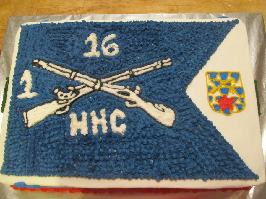 Change Of Command Cake For Hhc 1-16 Inf on Cake Central