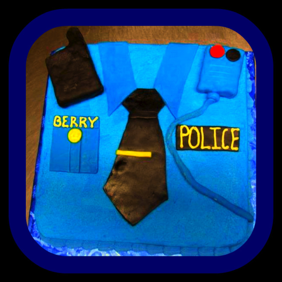 Policeman's Cake  on Cake Central