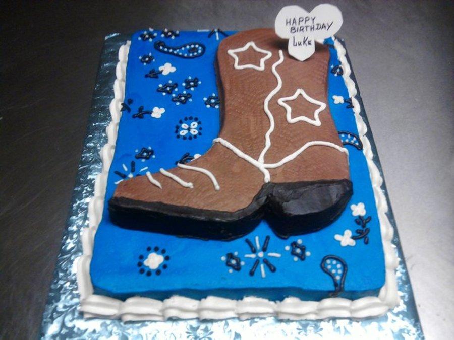 Cowboy Boot Bandana Birthday Cake CakeCentralcom