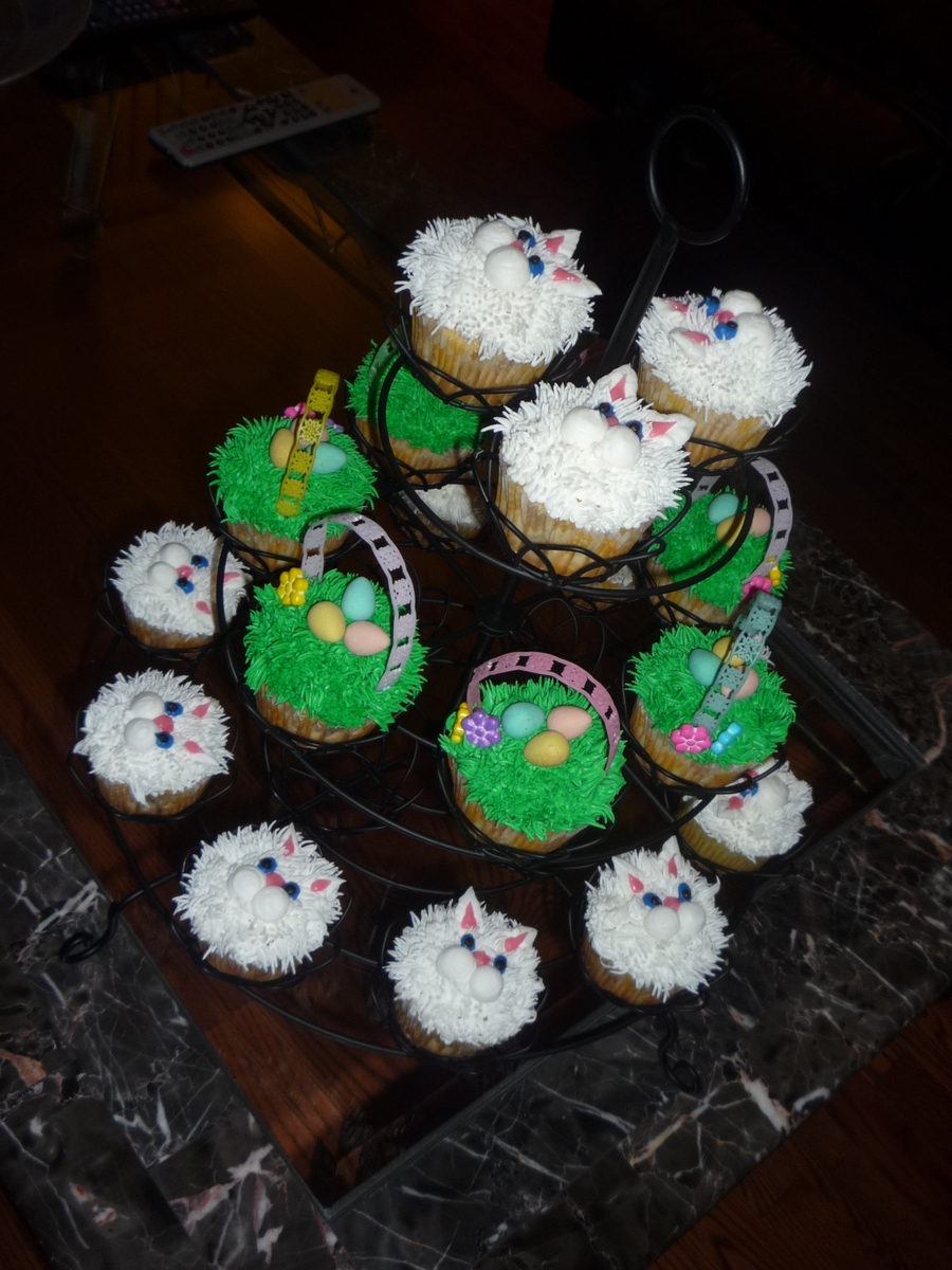 Bunny & Basket Cupcakes on Cake Central