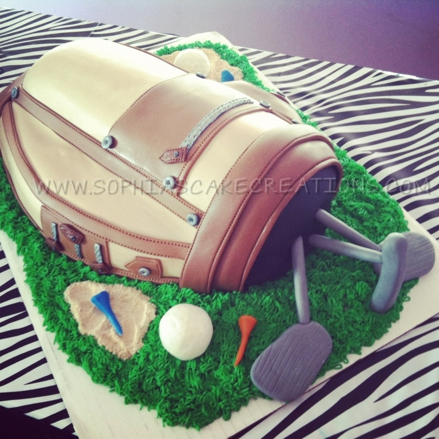 Golf Bag Grooms Cake on Cake Central