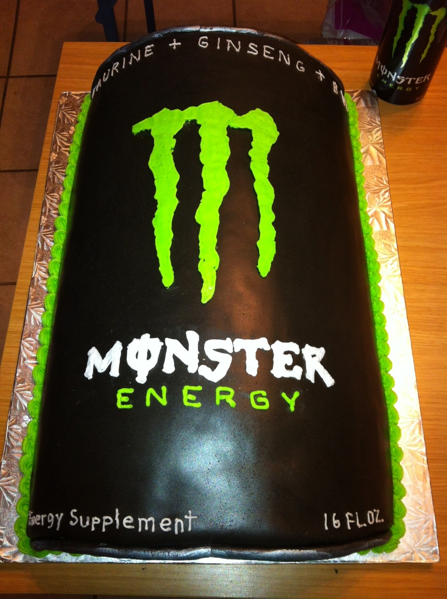 Monster Can Groom Cake on Cake Central