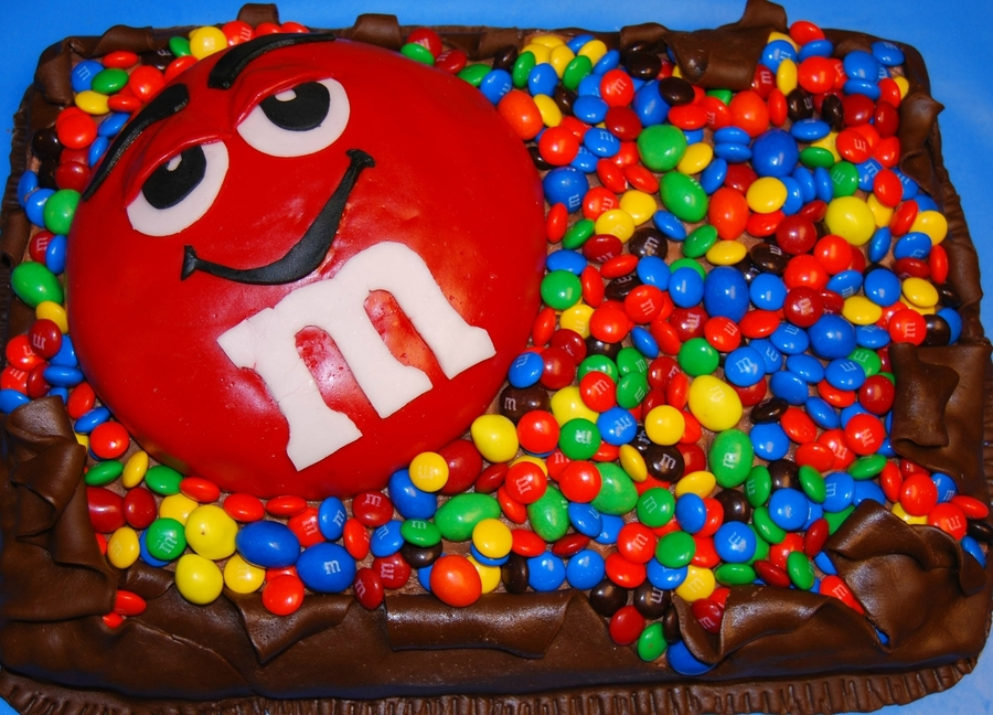 M&ms on Cake Central