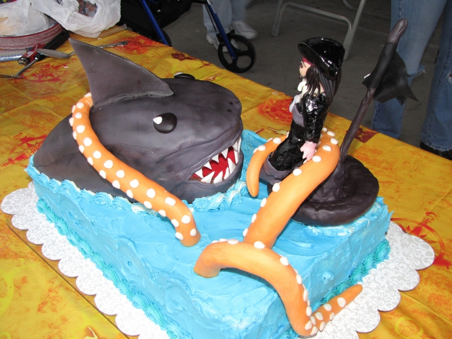 Captain Jackjaws Birthday Cake Cakecentral