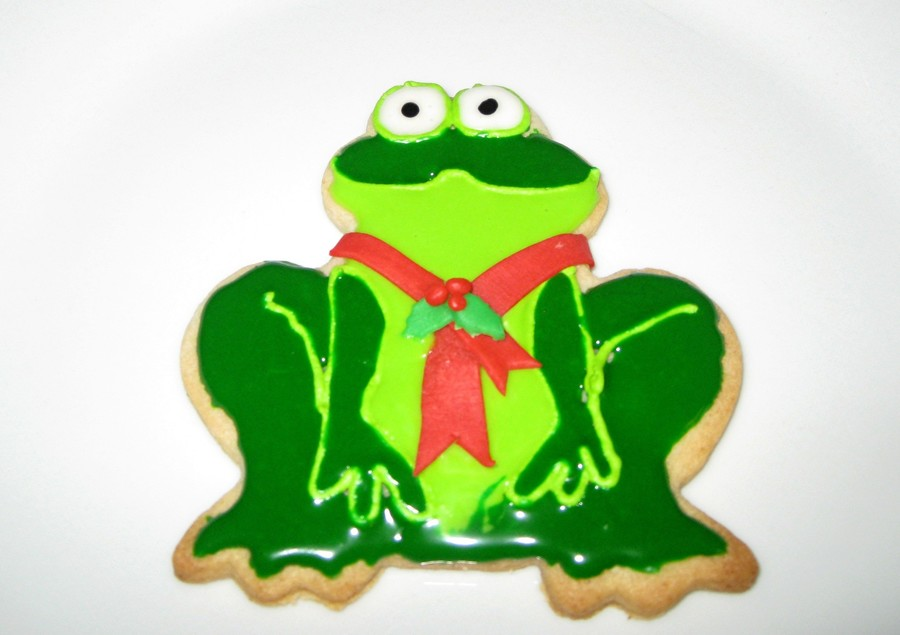 Christmas Frog on Cake Central