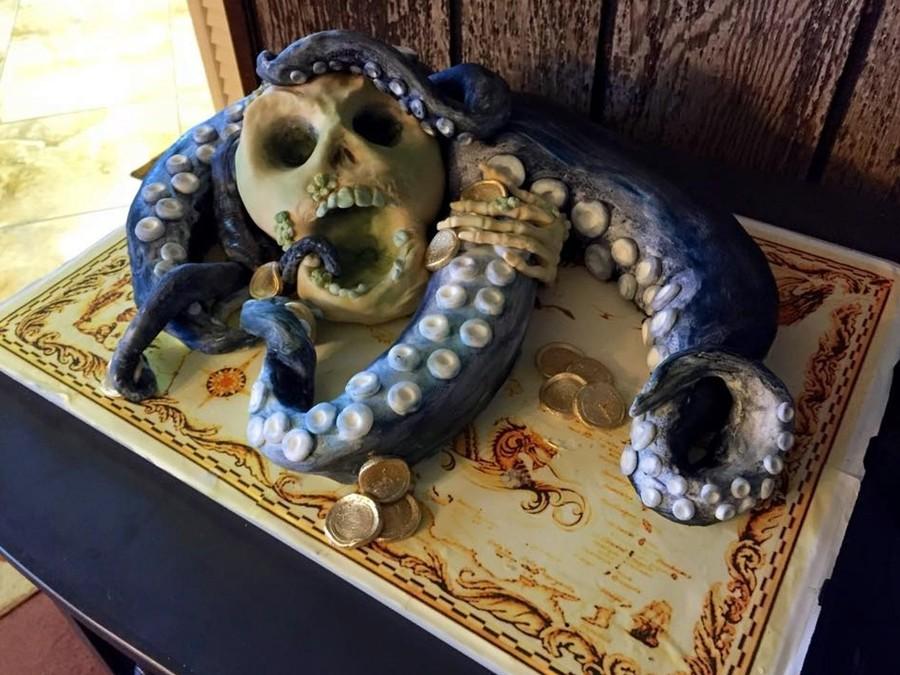 Pirate Meets His Doom Kraken Cake Cakecentral Com