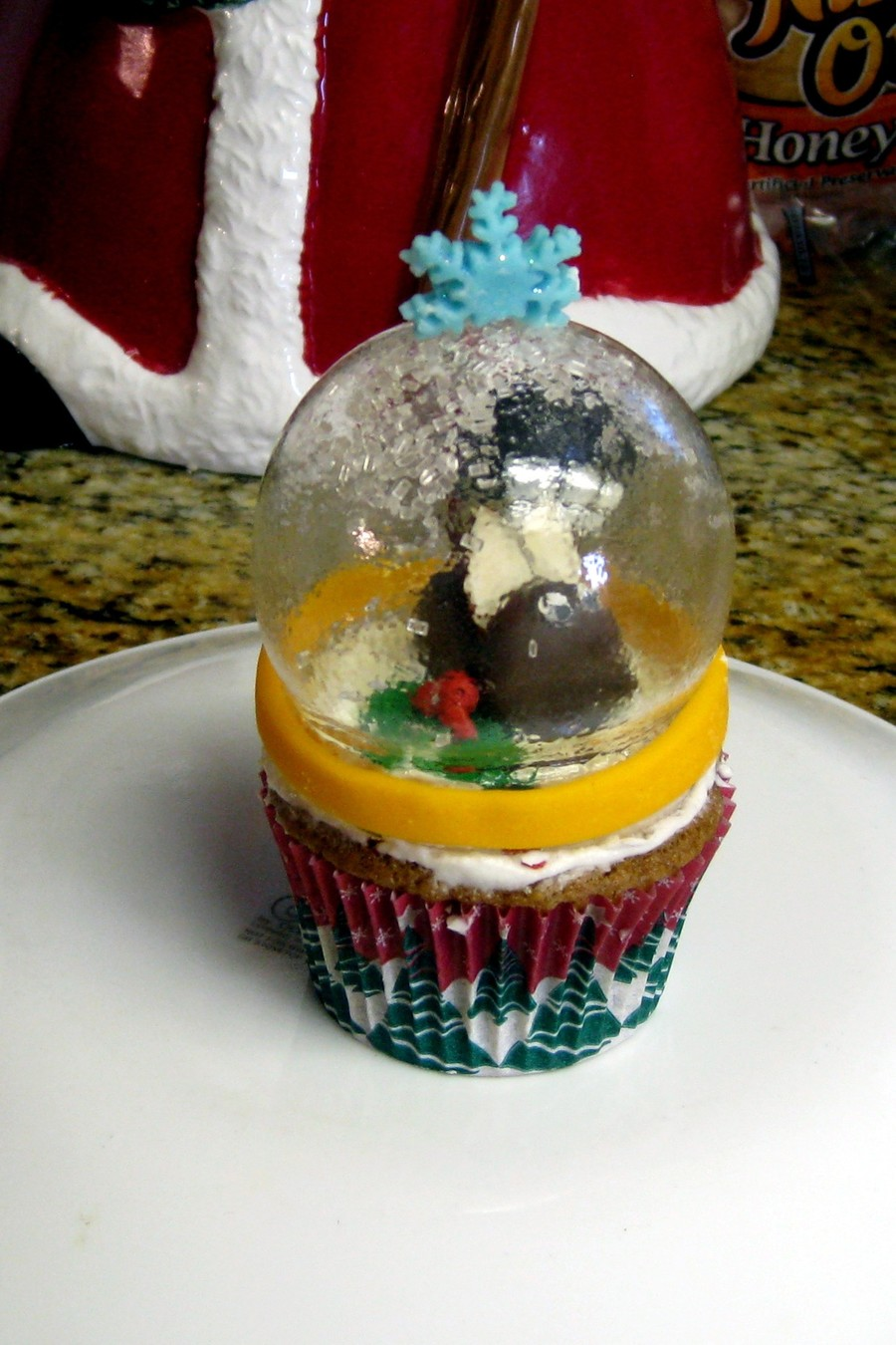 Isomalt Snowglobe Cupcake on Cake Central