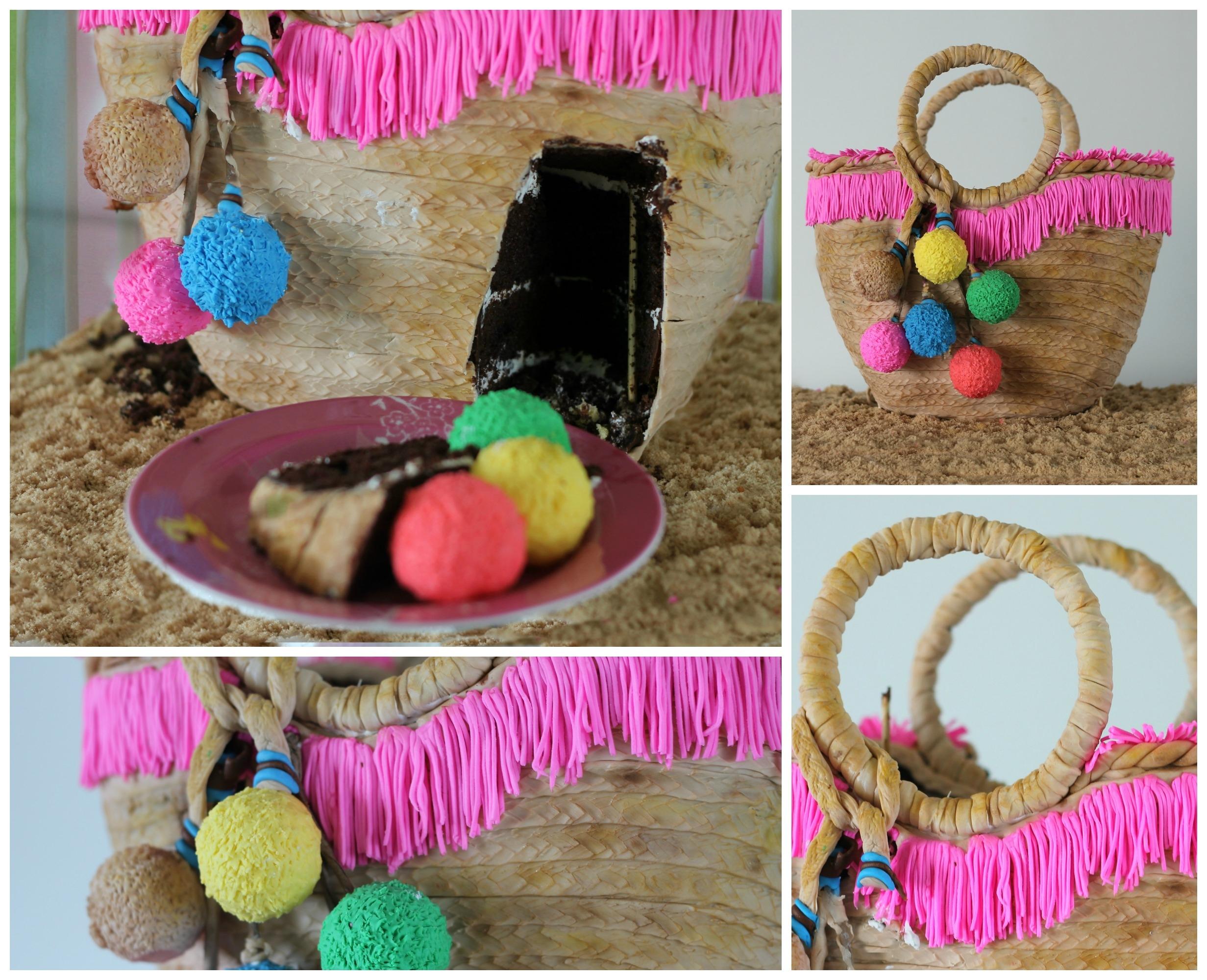 Beach Basket Bag Cake - CakeCentral.com