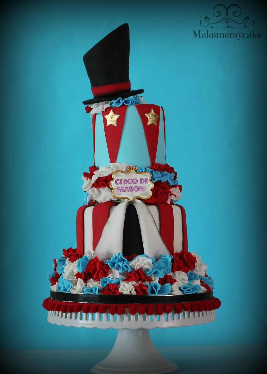 Circus And Ruffles Cake!! on Cake Central