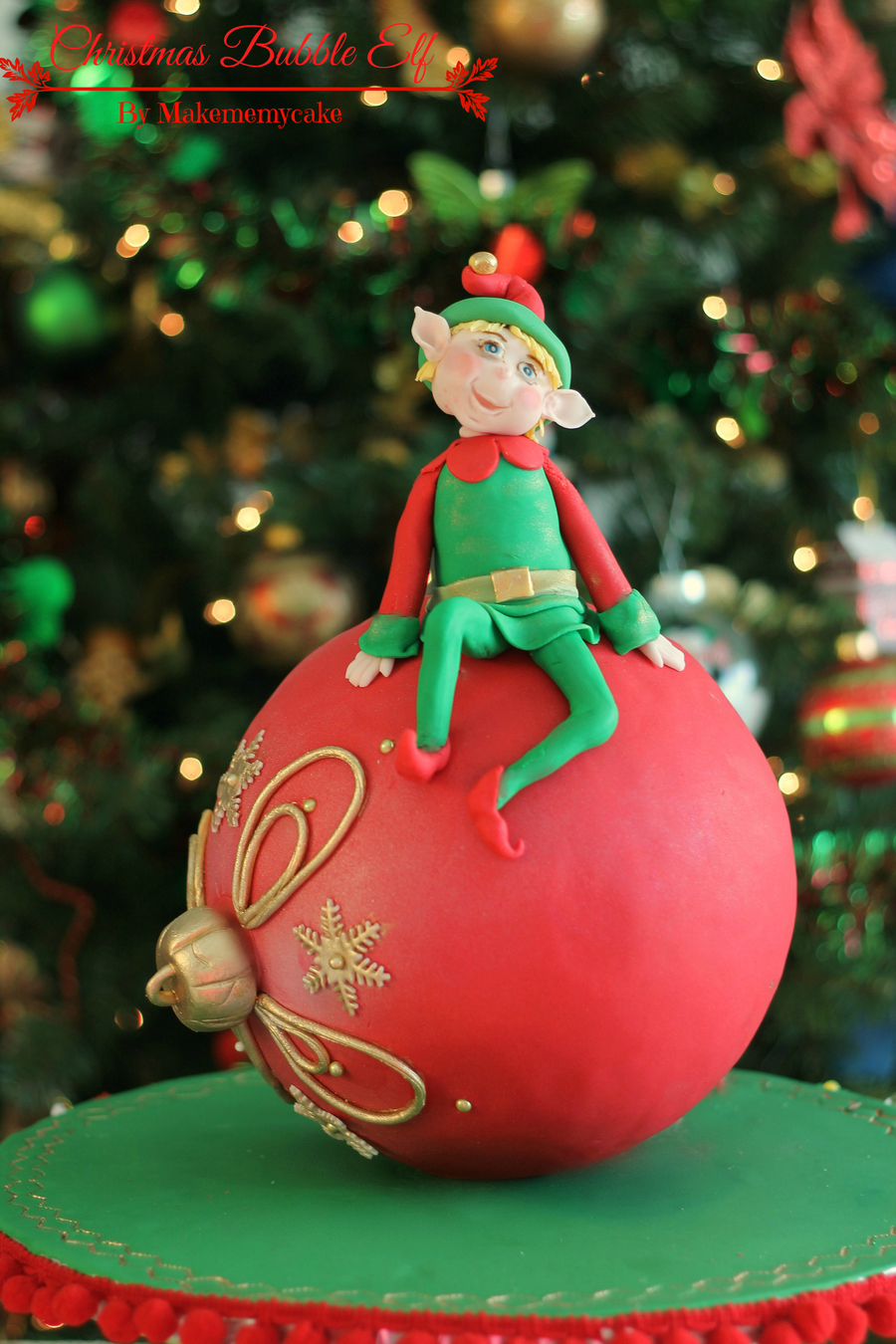 Christmas Bubble Elf Cakecentral Com